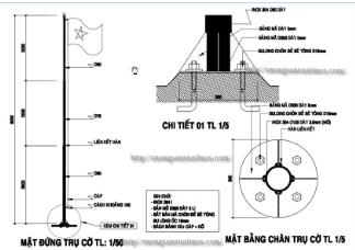 Bản vẽ tiêu chuẩn cột cơ inox