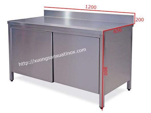 Báo giá tủ sơ chế inox