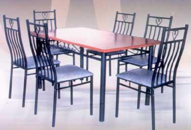 Bộ bàn ghế inox, bg-1227