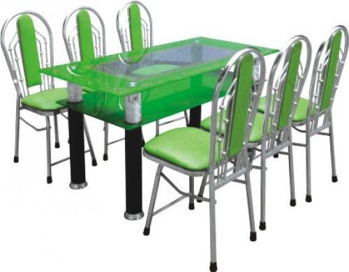 Bộ bàn ghế inox, bg-3022