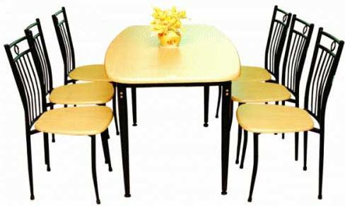 Bộ bàn ghế inox đẹp