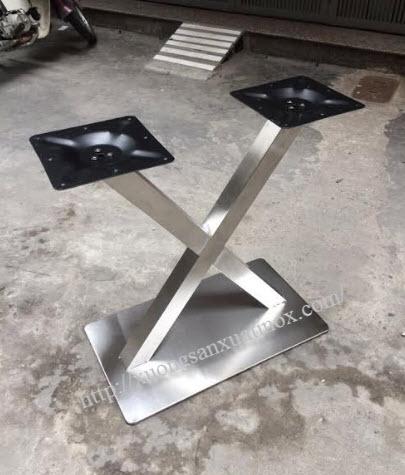 Chân bàn inox chữ x