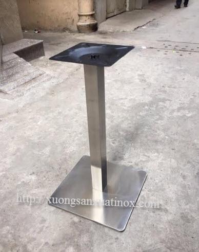 Chân bàn vuông inox