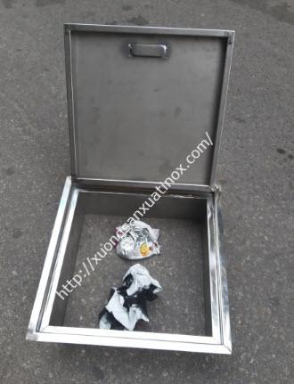Cửa rác inox làm theo yêu cầu