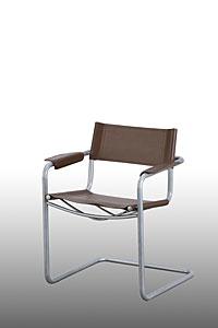 Ghế dựa chân sắt cố định mặt nệm simili có tay