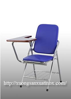 ghế liền bàn học inox