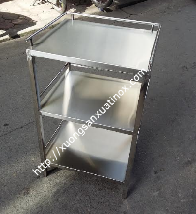 Kệ inox 3 tầng phẳng
