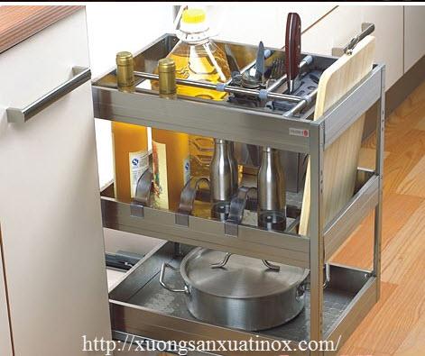 kệ inox đa năng tủ bếp