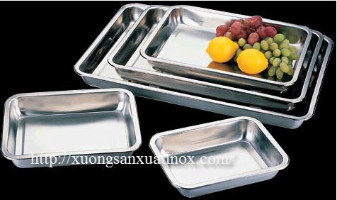 Khay inox ban hàng ăn