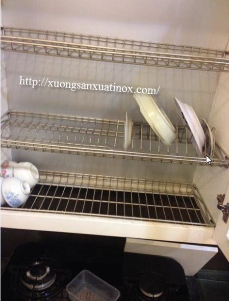 khay úp bát inox tủ bếp