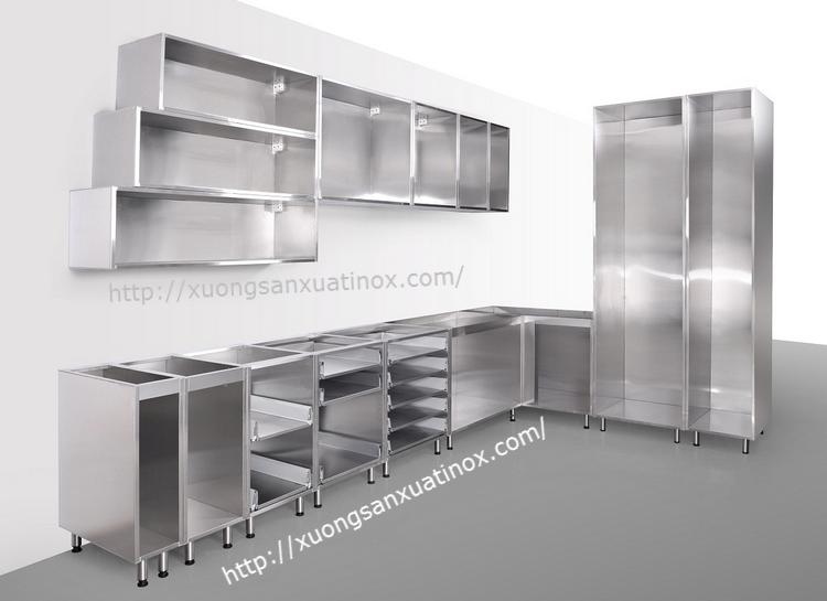 khung tủ bếp inox