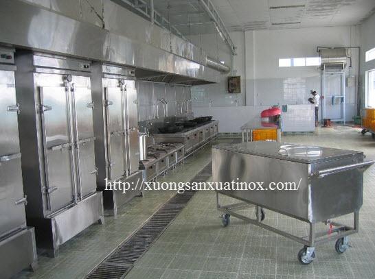 nhà bếp inox trường học
