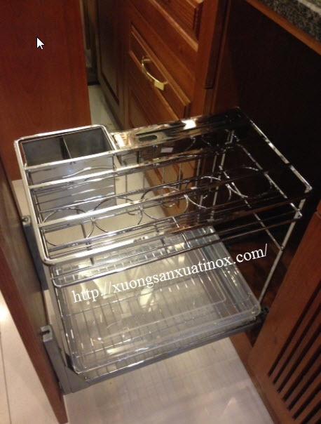 phụ kiện inox lắp tủ bếp