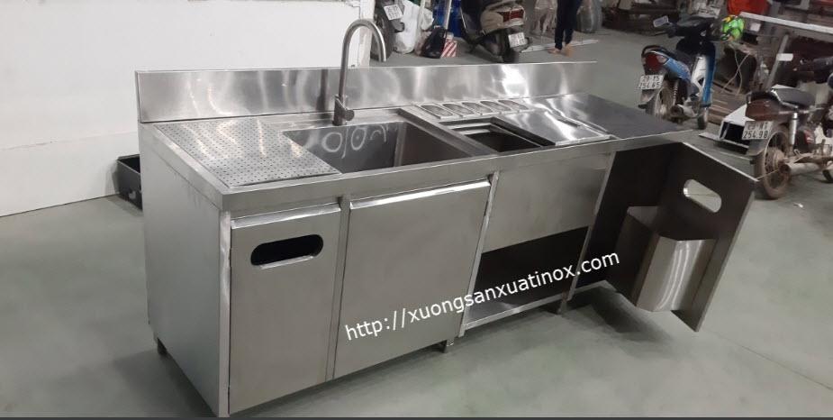 Sản xuất tủ trà sữa inox 304