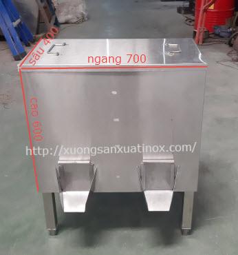 thùng gạo inox công nghiệp