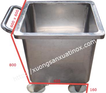 Thùng rác inox công nghiệp