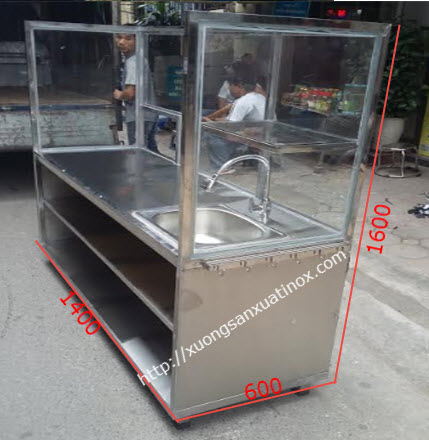 Tủ bán hàng thực phẩm inox