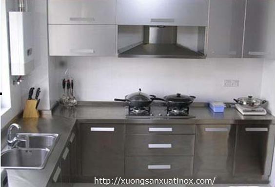 Tủ bếp inox 201