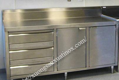 Tủ bếp inox nhỏ