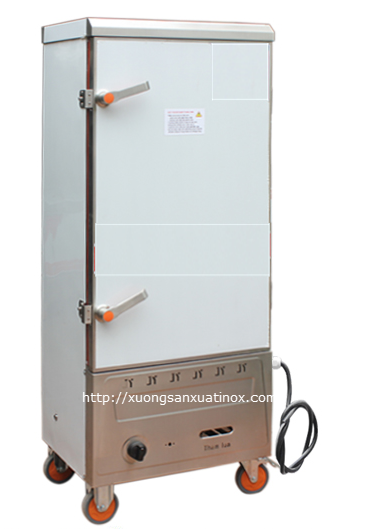 Tủ cơm công nghiệp 12 khay dùng gas