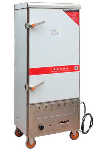 Tủ cơm công nghiệp 12 khay dùng gas và điện