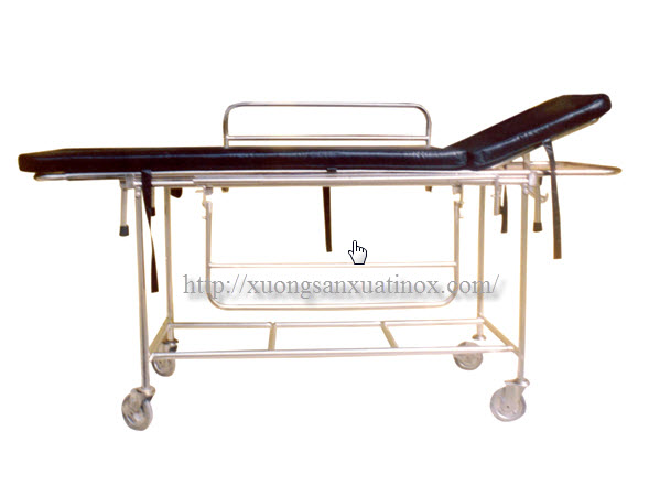 xe đẩy cáng bệnh nhân inox