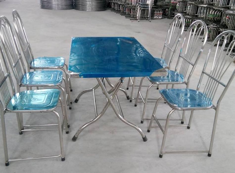 Bàn ghế inox chất lượng