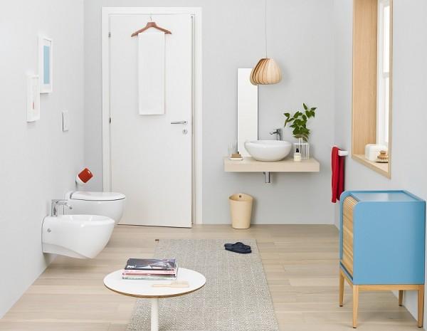 Phòng tắm đẹp và hiện đại với đồ nội thất Inox